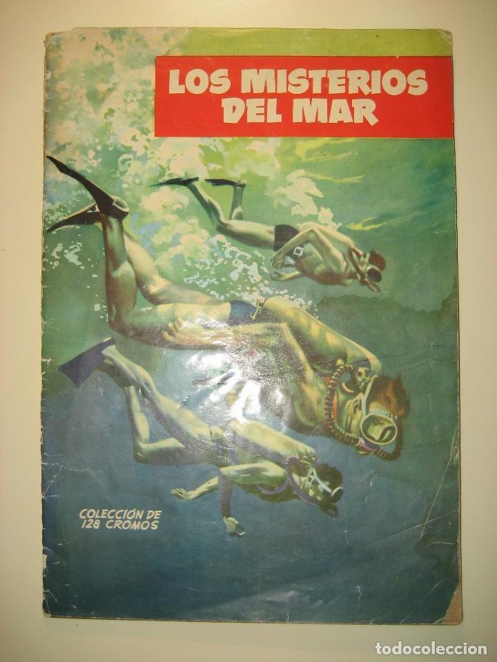 ALBUM DE CROMOS LOS MISTERIOS DEL MAR. TORAY, 1957. (Coleccionismo - Cromos y Álbumes - Álbumes Incompletos)