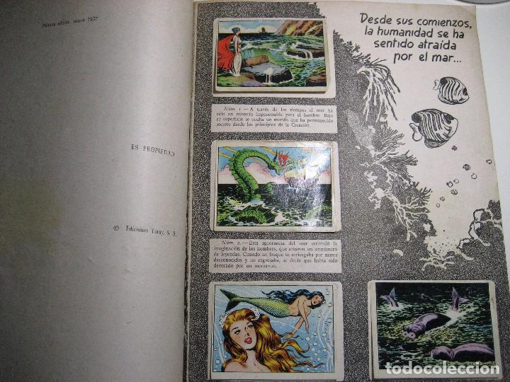 Coleccionismo Álbumes: ALBUM DE CROMOS LOS MISTERIOS DEL MAR. TORAY, 1957. - Foto 6 - 196557062
