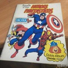 Coleccionismo Álbumes: HEROES FANTASTICOS MARVEL Y TRAVESURAS VICKYE ALBUM DOBLE CROPAN. CON 23 CROMOS PAPEL (COIB63). Lote 196988827