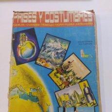 Coleccionismo Álbumes: PAISES Y COSTUMBRES-FHER-ALBUM CASI COMPLETO-FALTA 1 CROMO-VER FOTOS-(V-19.451). Lote 197041287