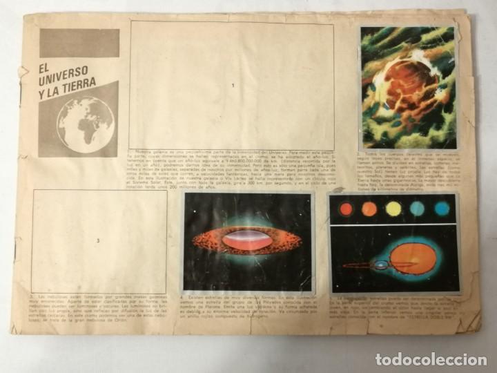 ÁLBUM EL UNIVERSO Y LA TIERRA. (Coleccionismo - Cromos y Álbumes - Álbumes Incompletos)