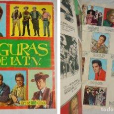 Coleccionismo Álbumes: FIGURAS DE LA TV. 1965. FHER. CONTIENE 148 CROMOS. Lote 197448076