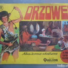 Coleccionismo Álbumes: ALBUM ORZOWEI CON 61 CROMOS PEGADOS MUY BIEN PUESTOS. Lote 197543083