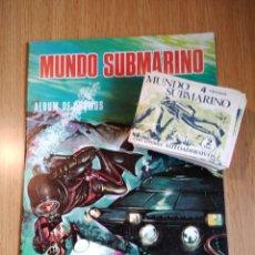 Coleccionismo Álbumes: MUNDO SUBMARINO ALBUM Y 40 SOBRES. Lote 197913460