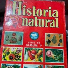 Coleccionismo Álbumes: ANTIGUO ALBUM DE CROMOS HISTORIA NATURAL, COLECCION CULTURA, SERIE 5, ALBUM 1. TODO FOTOGRAFIADO. Lote 198461601