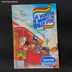 Coleccionismo Álbumes: ALBUM DE CROMOS LA VUELTA AL MUNDO DE WILLY FOG DE DANONE LE FALTA 1 CROMO. Lote 198604117