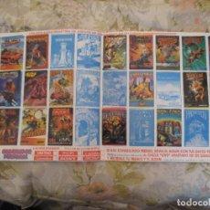 Coleccionismo Álbumes: CHICLE UV2. AMSTRAD ATARI. VIDEO JUEGOS. Lote 198967905