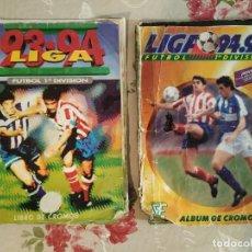 Coleccionismo Álbumes: LIGA ESTE 93 - 94 Y 94 - 95 CASI COMPLETOS MAL ESTADO. Lote 199189536