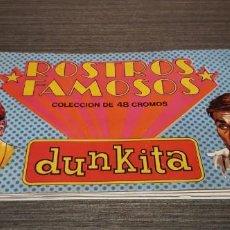 Coleccionismo Álbumes: DIFÍCIL ÁLBUM ROSTROS FAMOSOS DUNKITA ( SALIDA 1€). Lote 199861942