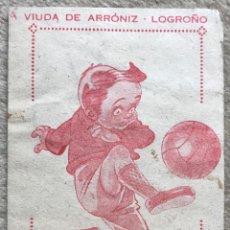 Coleccionismo Álbumes: MINI ÁLBUM PUZZLE BALÓN DE FÚTBOL - VIUDA DE ARRONIZ - LOGROÑO - CHICLE AROMÁTICO BAZOK. Lote 199868521