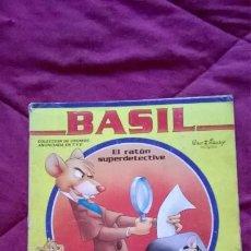 Colecionismo Cadernetas: ÁLBUM CROMOS BASIL EL RATON SUPERDETECTIVE PANINI. Lote 200287543