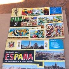 Coleccionismo Álbumes: LOTE DE 2 ÁLBUMES VIDA Y COLOR Y ESPAÑA. Lote 202629622