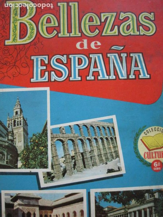 BELLEZAS DE ESPAÑA-EDITORIAL BRUGUERA-ALBUM DE CROMOS INCOMPLETO-VER FOTOS-(V-19.921) (Coleccionismo - Cromos y Álbumes - Álbumes Incompletos)
