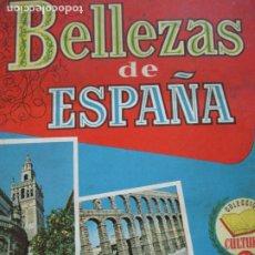 Coleccionismo Álbumes: BELLEZAS DE ESPAÑA-EDITORIAL BRUGUERA-ALBUM DE CROMOS INCOMPLETO-VER FOTOS-(V-19.921). Lote 203177583