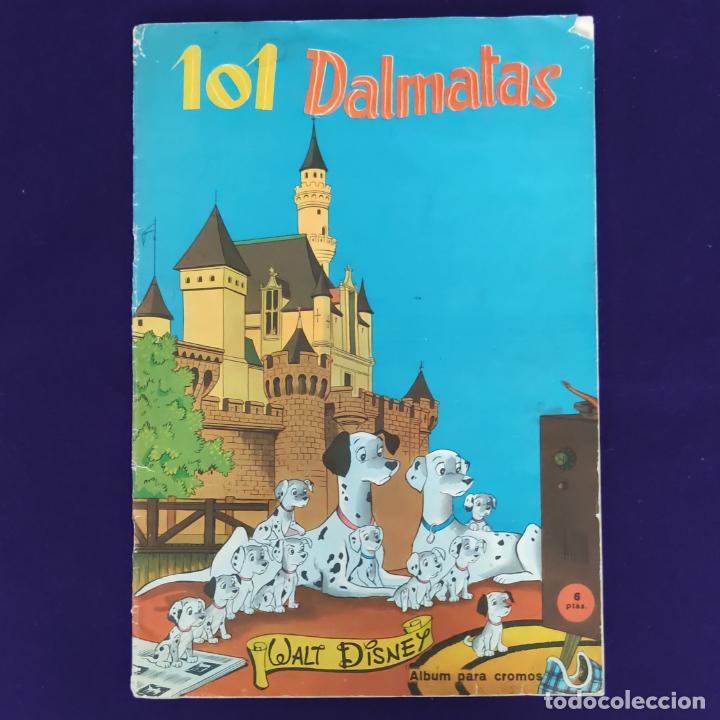 ALBUM INCOMPLETO. 101 DALMATAS. WALT DISNEY. FHER. 1962. FALTAN 49 CROMOS DE 203. (Coleccionismo - Cromos y Álbumes - Álbumes Incompletos)