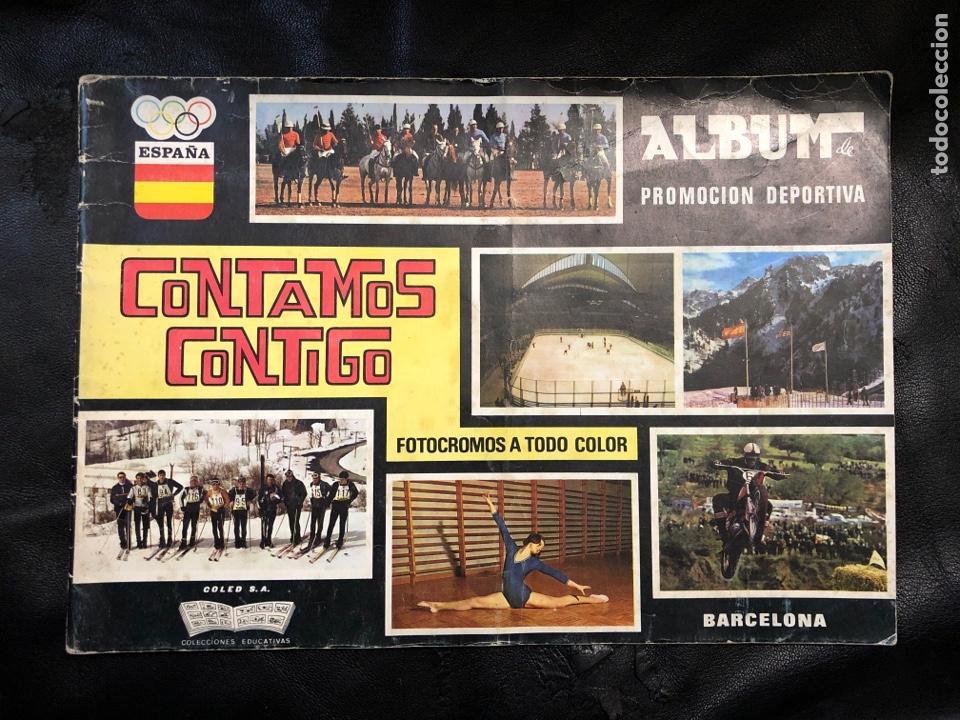 ALBUM CONTAMOS CONTIGO - VACÍO (Coleccionismo - Cromos y Álbumes - Álbumes Incompletos)