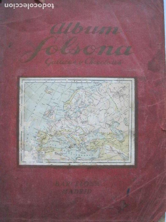 Coleccionismo Álbumes: ALBUM SOLSONA GALLETAS Y CHOCOLATE-ALBUM DE CROMOS INCOMPLETO-VER FOTOS-(V-20.099) - Foto 2 - 204818403