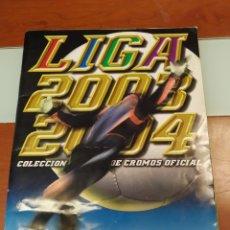 Coleccionismo Álbumes: ÁLBUM DE CROMOS DE LA LIGA PRIMERA DIVISIÓN COLECCIONES ESTE 2003/2004 PARCIALMENTE RELLENADO. Lote 205124265