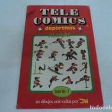Coleccionismo Álbumes: MAGNIFICO ANTIGUO ALBUM DE CROMOS TELE COMICS DEPORTIVOS SERIE 1 DIBUJOS ANIMADOS JAN. Lote 205584742