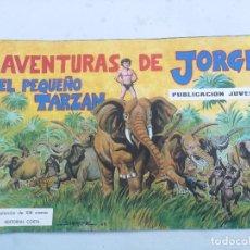 Coleccionismo Álbumes: ANTIGUO ALBUM VACIO DE LAS AVENTURAS DE JORGE - EL PEQUEÑO TARZAN - EDITORIAL COSTA - 1969 - EN PERF. Lote 205648916