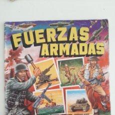 Coleccionismo Álbumes: ALBUM FUERZAS ARMADAS CROMOS ADHESIVOS TROQUELADOS EDICIONES MAGA1981. Lote 205696280