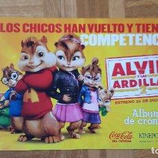 Coleccionismo Álbumes: ALBUM CROMOS PLANCHA. ALVIN Y LAS ARDILLAS. VER FOTOS ADICIONALES. Lote 205768188