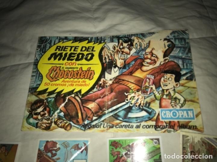 Coleccionismo Álbumes: Álbum cromos ALBUM VACÍO RIETE DEL MIEDO - CROPAN AÑOS 70 CON 9 CROMOS NO SUELTOS - Foto 3 - 205820862