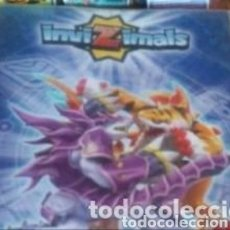 Coleccionismo Álbumes: LOTE CON MAS DE 500 CARTAS DE INVIZIMALS MAS ALBUM VACIO DE INVIZIMALS. Lote 205829770