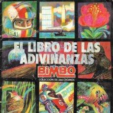 Coleccionismo Álbumes: ALBUM EL LIBRO DE LAS ADIVINANZAS DE BIMBO CON 181 CROMOS. Lote 205832915