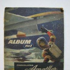 Coleccionismo Álbumes: CHOCOLATES AMATLLER-1-VUELTA AL MUNDO EN 80 DIAS-ALBUM DE CROMOS INCOMPLETO-VER FOTOS-(V-20.289). Lote 206362848