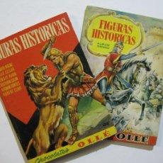 Coleccionismo Álbumes: FIGURAS HISTORICAS-ALBUMES 1 Y 3 VACIOS-CHOCOLATES OLLE-VER FOTOS-(V-20.291). Lote 206363855