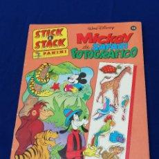 Coleccionismo Álbumes: ALBUM STICK STACK MICKEY DE SAFARI -PANINI. Lote 206594107