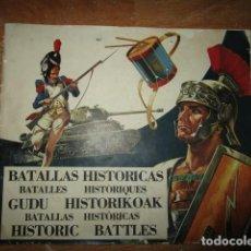 Coleccionismo Álbumes: BATALLAS HISTORICAS SOBRE GUERRAS ALBUM CROMOS INCOMPLETO CONTIENE 160 CROMOS DE 306. Lote 207022103