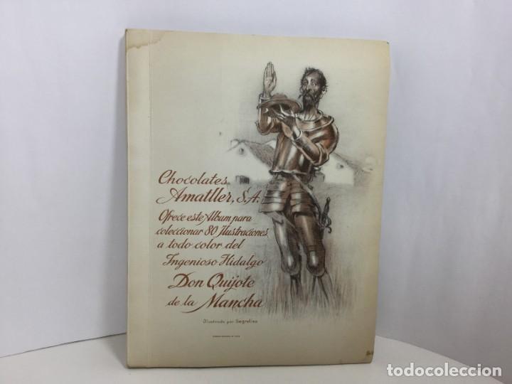 ALBUM CROMOS DON QUIJOTE DE LA MANCHA CHOCOLATES AMATLLER S.A. segunda mano