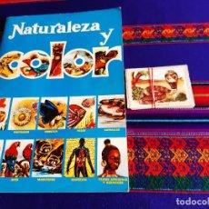 Coleccionismo Álbumes: NATURALEZA Y COLOR INCOMPLETO CON 99 CROMOS 39 DE ELLOS SIN PEGAR. CAREN 1980. SIN ESCRITOS. BE.. Lote 207074927