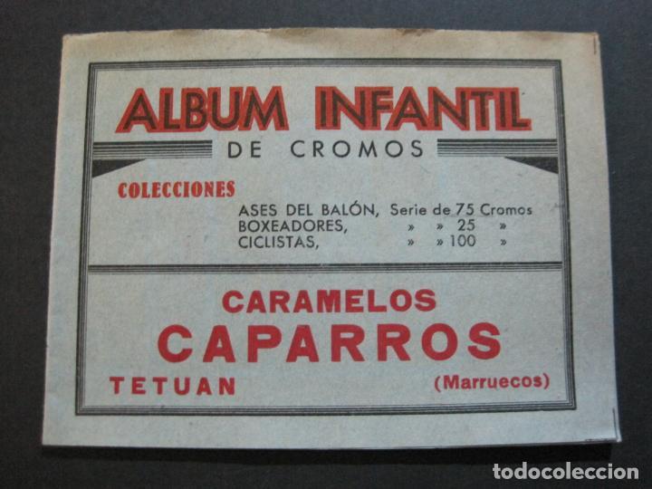 Coleccionismo Álbumes: ALBUM INFANTIL DE CROMOS-VACIO-PUBLICIDAD CARAMELOS CAPARROS-TETUAN-MARRUECOS-VER FOTOS-(71.285) - Foto 2 - 207225633