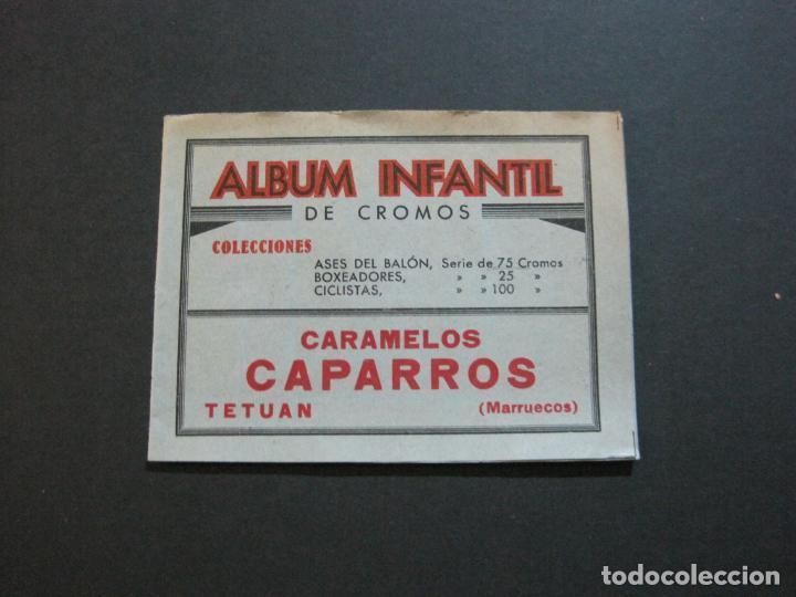 ALBUM INFANTIL DE CROMOS-VACIO-PUBLICIDAD CARAMELOS CAPARROS-TETUAN-MARRUECOS-VER FOTOS-(71.285) (Coleccionismo - Cromos y Álbumes - Álbumes Incompletos)