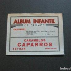 Coleccionismo Álbumes: ALBUM INFANTIL DE CROMOS-VACIO-PUBLICIDAD CARAMELOS CAPARROS-TETUAN-MARRUECOS-VER FOTOS-(71.285). Lote 207225633