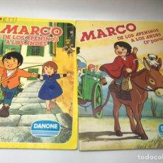 Coleccionismo Álbumes: DOS ALBUMS DE MARCO DE LOS APENINOS A LOS ANDES DE DANONE PRIMERA Y SEGUNDA PARTE INCOMPLETOS. Lote 208867158