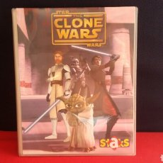 Coleccionismo Álbumes: ALBUM STAR THE CLONE WARS STAKS. PANINI HAY 24 IMANES. Lote 209589970