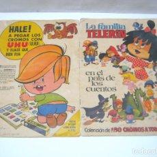 Coleccionismo Álbumes: ALBUM CON CROMOS LA FAMILIA TELERIN -EN EL PAIS DE LOS CUENTOS BRUGUERA 1965. Lote 209621290