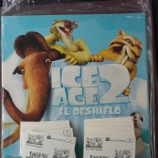 Coleccionismo Álbumes: ICE AGE 2 - PANINI - ALBUM VACIO + LOTE DE 83 CROMOS DIFERENTES + 126 REPETIDOS ( NUNCA PEGADOS ). Lote 210318207