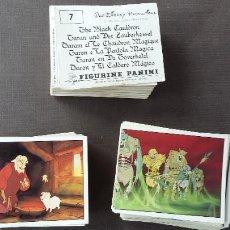 Coleccionismo Álbumes: TARÓN Y EL CALDERO MÁGICO - PANINI + LOTE DE 135 CROMOS DIFERENTES + 300 REPETIDOS ( NUNCA PEGADOS ). Lote 210324633