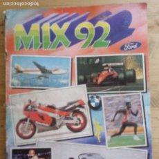 Coleccionismo Álbumes: INCOMPLETO - ALBUM MIX 92 FORD - 213 CROMOS FALTANDO LOS NºS 54 - 59 - 102 - INCOMPLETO. Lote 210325471