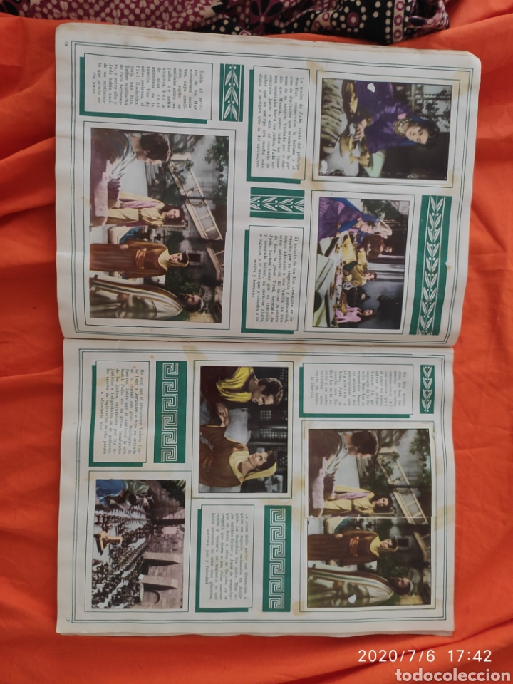 Coleccionismo Álbumes: Album incompleto ben hur - Foto 10 - 210580342