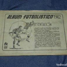 Coleccionismo Álbumes: ALBUM FUTBOLISTICO 1942 , EDITORIAL CISNE - HAY 139 CROMOS, FALTA LA PORTADA. Lote 210831166