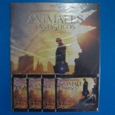 Coleccionismo Álbumes: ALBUM VACIO + 4 SOBRES DE CROMOS SIN ABRIR DE ANIMALES FANTASTICOS AÑO 2016 DE PANINI. Lote 211390186