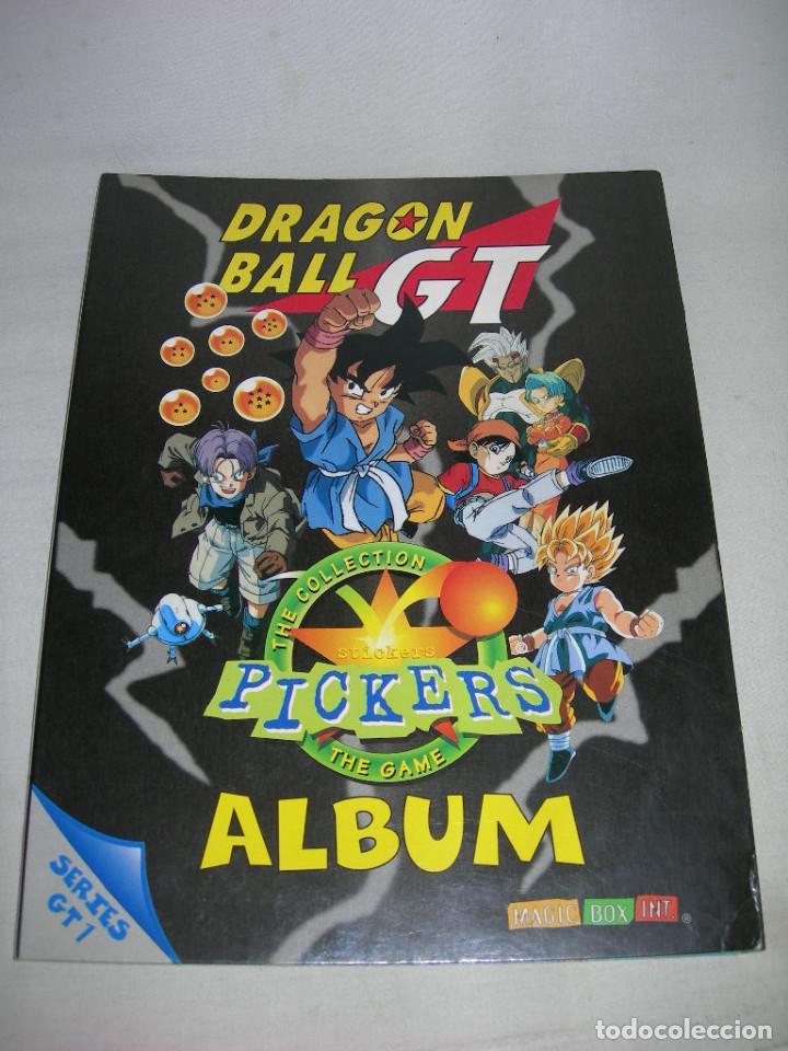 DIFÍCIL ÁLBUM VACÍO DRAGON BALL GT PICKERS DE MAGIC BOX INT. AÑO 1996 - BOLA DE DRAGÓN - (Coleccionismo - Cromos y Álbumes - Álbumes Incompletos)