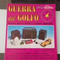 Coleccionismo Álbumes: ALBUM CROMOS CHICLE CERDÁN LA GUERRA DEL GOLFO CHEWING GUM GULF WAR STICKER ALBUM. Lote 212013891