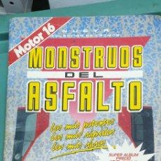 Coleccionismo Álbumes: MOUNSTROS DEL ASFALTO ÁLBUM DE CROMOS COMPLETO AL 50. Lote 212105153